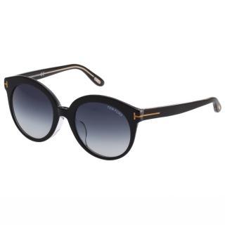 【TOM FORD】-復古圓框 太陽眼鏡TOM429F(黑色)