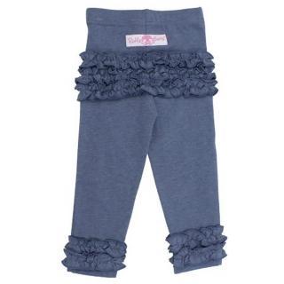 【美國 RuffleButts】小公主甜美荷葉邊長褲_牛仔藍長褲(BRLP01)