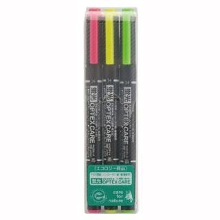【ZEBRA】WKCR1-3C OPTEX CARE環保螢光記號筆3色組