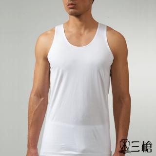 【三槍牌】4件組白色時尚型男純棉短袖汗布背心(白)