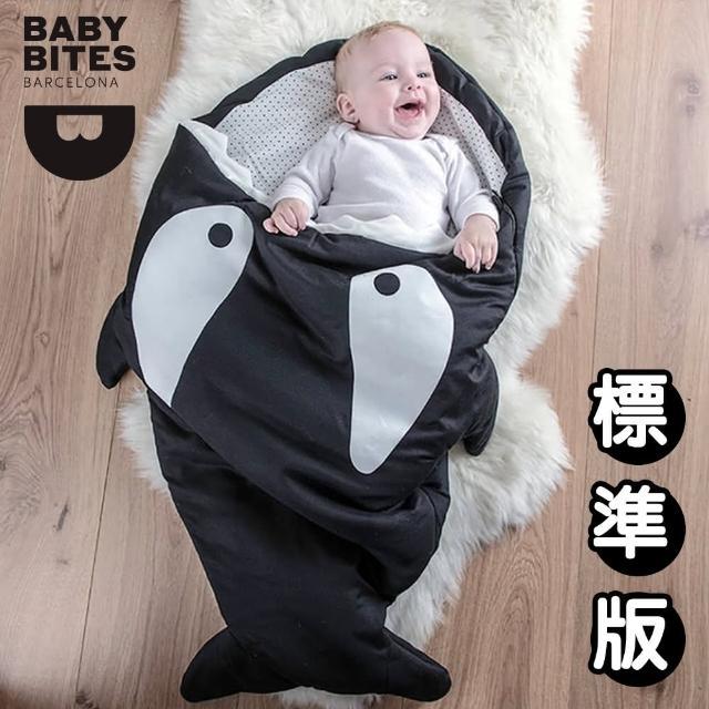 【西班牙鯊魚咬一口 BabyBites 西班牙製 100% 純棉手工嬰兒睡袋 防踢被 包巾】小殺人鯨(標準版)