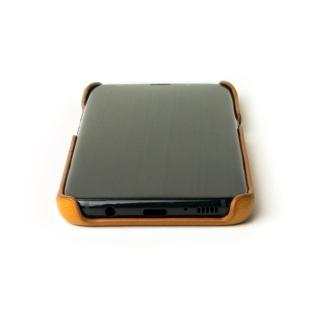 【alto】Samsung Galaxy S8+ 6.2吋 真皮手機殼背蓋 Original - 焦糖棕(三星 S8+)