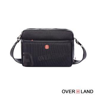 【OVERLAND】美式十字軍-LOGO浮印拉鍊側背包-小款(3134)