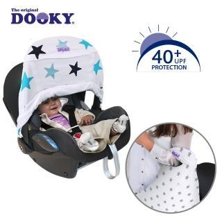 【荷蘭Dooky】抗UV手提汽座前遮陽罩-粉藍星星