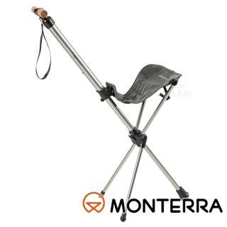 【MONTERRA 韓國】馬鞍摺疊休息椅『暗灰』SIA711(釣魚.野餐椅.露營椅.戶外椅.機車露營)