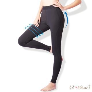 【E‧Heart】運動曲線彈性修飾壓力褲2件組(贈迪士尼日本限定提袋)
