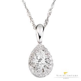 【亞帝芬奇】GIA 50分 FVVS2 鑽石 項鍊 風雅歌頌(14K金台+14K金鍊)