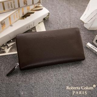 【Roberta Colum】【Roberta Colum】經典品味鹿紋牛皮單拉鍊長夾正規版-共3色