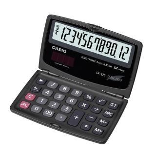 【CASIO卡西歐】12位數國考型摺疊式計算機(SX-220)