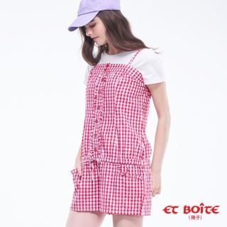 【BLUE WAY】格紋連身吊帶短褲- ET BOiTE 箱子