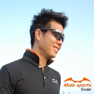 【MOLA】摩拉運動太陽眼鏡  超輕量 自行車 跑步(Swan-bl)