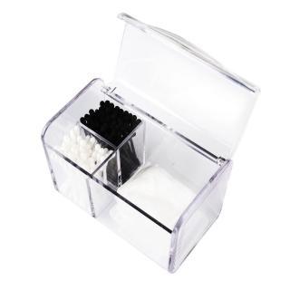 【目喜生活】防塵翻蓋化妝棉收納盒(3格分隔)