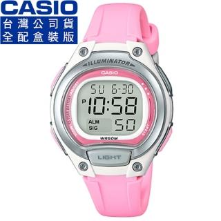 【CASIO】卡西歐鬧鈴多時區兒童電子錶-粉紅(LW-203-4A 公司貨全配錶盒)