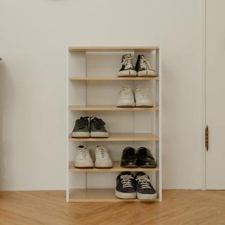 【ikloo】日系優雅五層木質鞋櫃