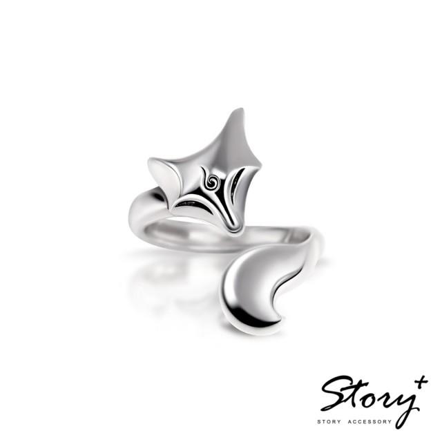 【STORY ACCESSORY】靈狐系列-白狐純銀戒指