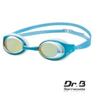 【美國巴洛酷達Barracuda】巴博士Dr.B#94690 AQUAREVOL 度數電鍍泳鏡(抗UV度數電鍍競速泳鏡)