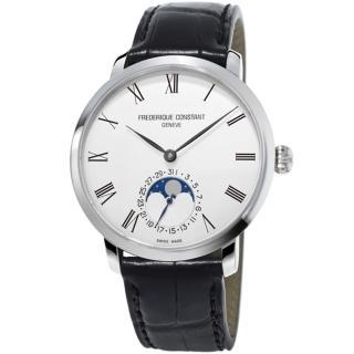 【康斯登 FREDERIQUE CONSTANT】自製機芯超薄月相腕錶(FC-705WR4S6)