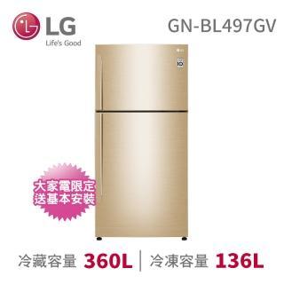 【LG 樂金】496公升◆一級能效變頻上下門冰箱-光燦金(GN-BL497GV)