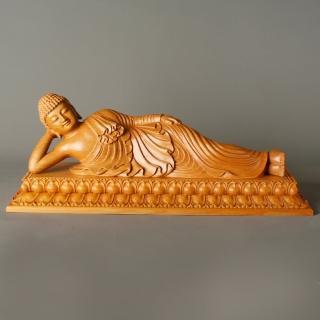 【MU LIFE 荒木雕塑藝品】臥佛1.3尺(佛像)