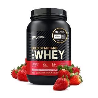 【美國 ON】金牌 WHEY 乳清蛋白(草莓/2磅/罐)