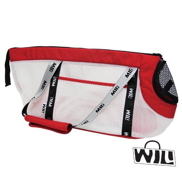 【WILL】極輕超透氣加長型臘腸包(壽司米白+酸莓紅&風雨罩)
