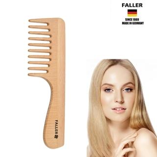 【FALLER 芙樂】寬木齒梳 防靜電柔順直髮 FSC優質木材(舒開糾結重現美麗)