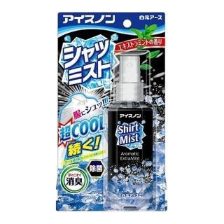 【日本白元】酷暑對策瞬冷 衣物涼感消臭除菌噴霧 100ml 黑色酷涼薄荷 瞬間爆冷身體降溫