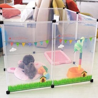 【寵物貴族】日系正品高質感寵物柵欄/寵物圍欄/寵物圍籬/寵物窩/寵物籠(清新雲朵最新款-3組)