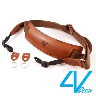 【4V Design】LUSSO-LARGE系列相機背帶LP01B-VV2323-棕/棕色/L(彩宣總代理)