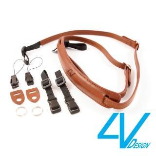 【4V Design】LUSSO-SLIM系列相機背帶SP01B-VV2323-棕/棕色(S)