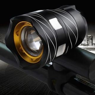 【May Shop】自行車前燈T6夜騎強光手電筒山地車USB充電車前燈遠射單車配件