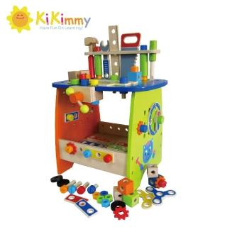 【台灣kikimmy】DIY益智工具桌75件組(木製玩具)