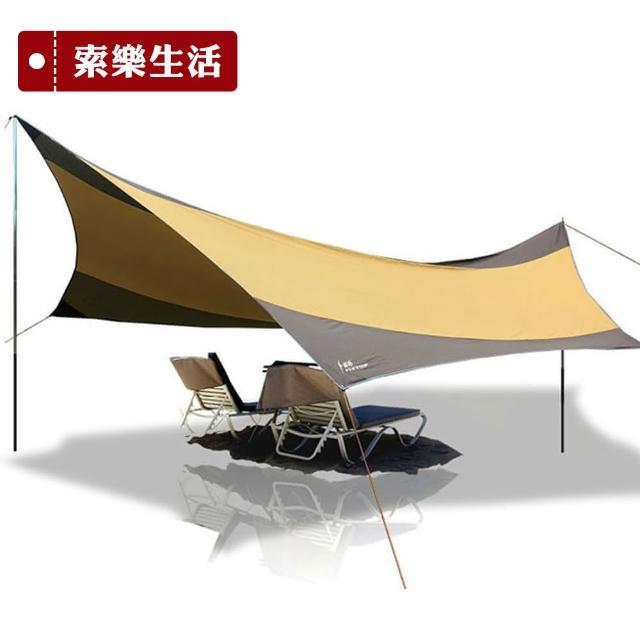 【索樂生活】頂級遮陽防水天幕帳篷(5.5x5.6m)
