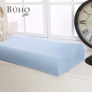 【BUHO布歐】吸濕排汗人體工學型加大型竹炭記憶枕(11cm/2入)