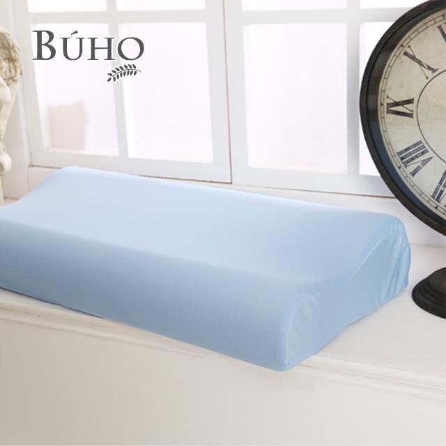 【BUHO布歐】吸濕排汗人體工學型加大型竹炭記憶枕(11cm/1入)/