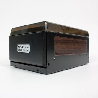 【KW-triO】400片名片盒 04400(兩邊可掀易於存取名片/大容量收納名片/二色可選)