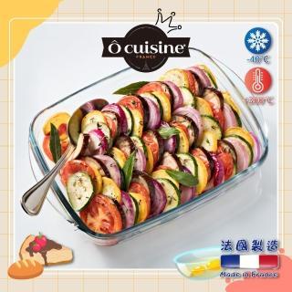 【O cuisine】百年工藝耐熱玻璃長方形烤盤(39*24CM)