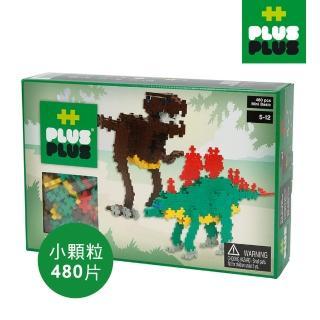 【BabyTiger 虎兒寶】++PLUS-PLUS 加加積木 MINI 小顆粒-彩虹系列 恐龍 480PCS(盒裝)