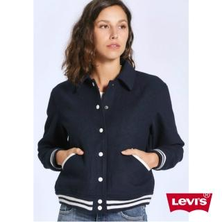 【LEVIS】女裝 棒球外套 / 立體刺繡 / 羊毛保暖