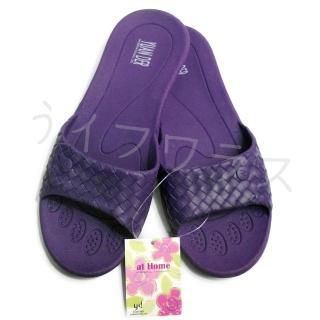 【YUAN DER】家居拖鞋-桃紅/紫色-4雙入