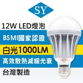 【SY 聲億科技】全電壓 LED 12W 燈泡  白光 4入組(CNS認證版)