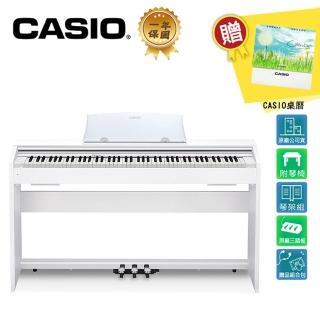 【CASIO 卡西歐】PX770 WE 88 鍵數位電鋼琴 古典白色款(原廠公司貨 商品保固有保障)