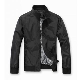 【NBL】J0286DB深藍色/BK黑色休閒百搭立領薄款風衣外套(韓版潮流立領風衣外套)