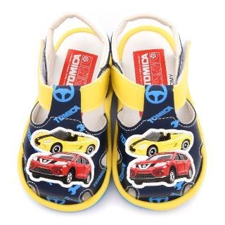【童鞋城堡】Tomica多美小汽車 小童 嗶嗶涼鞋(TM3603-藍)