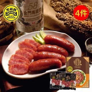 【黑橋牌】二斤高粱酒黑豬肉香腸禮盒 4件組(窖藏高粱酒風味)