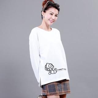 YAKPAK猴Hello系列baby棉寬版上衣組(X)(S)