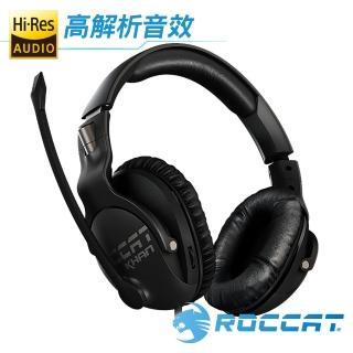 【ROCCAT】KHAN PRO 悍音系列 專業版高解析電競耳機-黑
