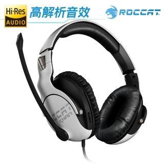 【ROCCAT】KHAN PRO 悍音系列 專業版高解析電競耳機-白