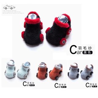 秋冬新款咘咘小汽車新生兒寶寶防滑點膠襪-2盒組(嬰兒襪)