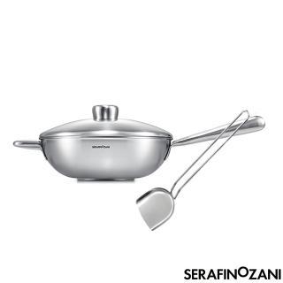 【SERAFINO ZANI 尚尼】買恆溫長柄炒鍋-28CM再送中式鍋鏟